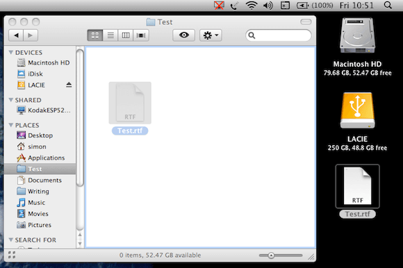 how to move files to another folder on mac