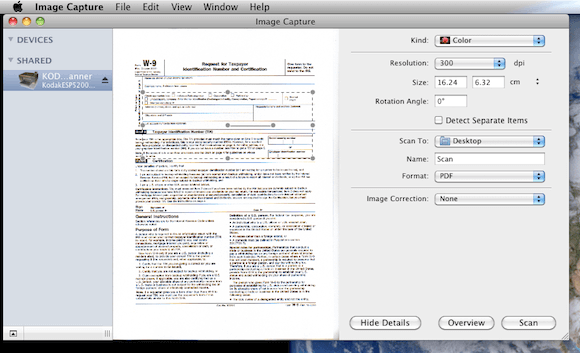 scan picture to text mac