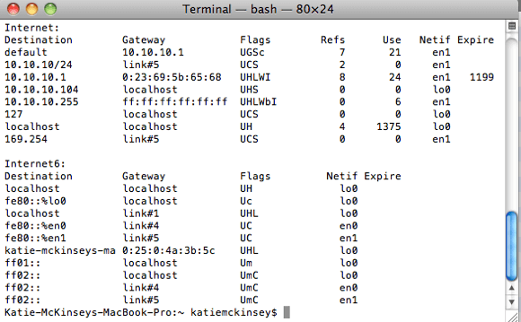 how to find ip address on mac using terminal