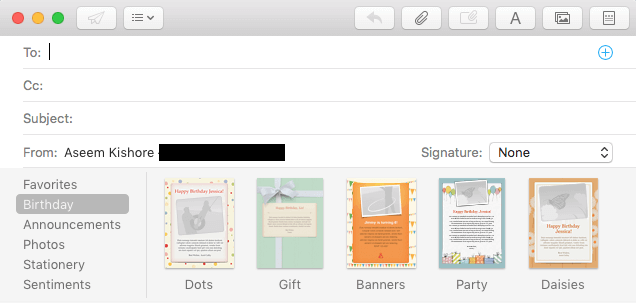 how to add stationery to mac mail